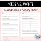 Needs vs Wants Activtiy