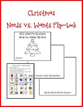 Needs vs. Wants Christmas Flip-Book