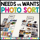 Needs vs. Wants Photo Sort with Writing Extension Pages