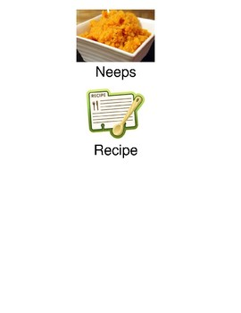 Neeps Recipe - Scotland food - picture supported text recipe visuals pictures