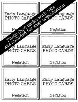 Negation Photo Flashcards - Early Language