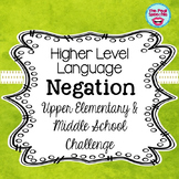 Negation | Middle School Speech and Language Therapy
