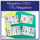 Negation: Fall themed for speech therapy