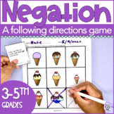 Negation Speech Therapy