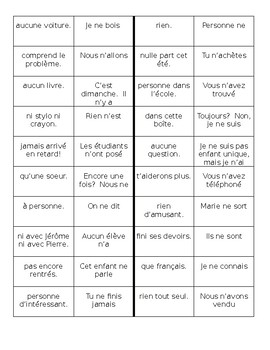 Negation in French dominoes