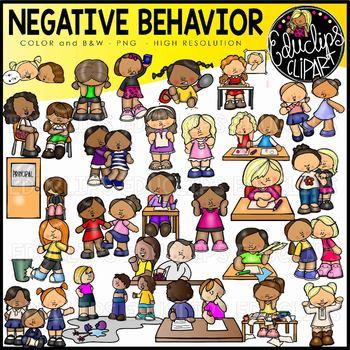 Negative Behavior Clip Art Bundle