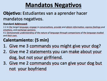 Negative Commands in Spanish--Tú/Usted/Ustedes