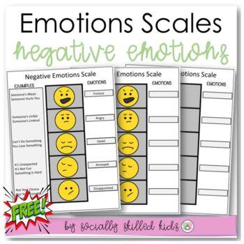 SOCIAL SKILLS: Negative Emotions Scale~FREE