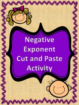 Negative Exponent Cut and Paste Activity