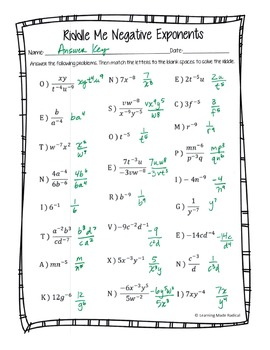 free exponents worksheets adding and subtracting positive negative ...