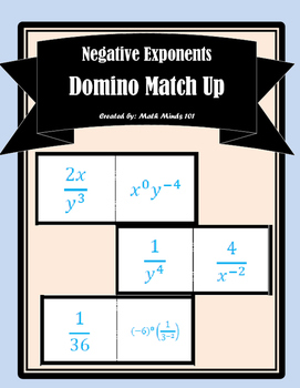 Negative Exponents - Domino Match