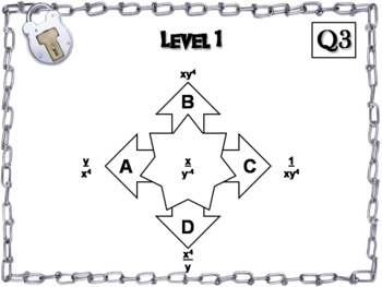 Negative Exponents Game: Escape Room Math Activity