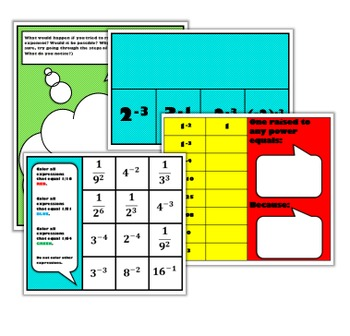 Negative Exponents Interactive Math Unit