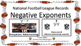 Negative Exponents -  Matching Cards Reveal NFL Records!