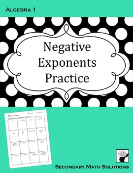 Negative Exponents Practice