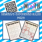 Negative Exponents Rule Maze