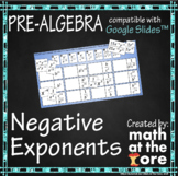 Negative Exponents - Rules of Exponents - GOOGLE Slides