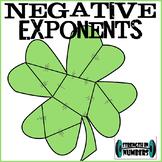 Negative Exponents Rule St. Patrick's Day Shamrock Puzzle