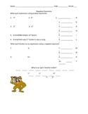 Negative Exponents Worksheet