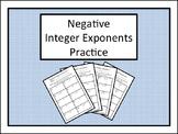 Negative Integer Exponents Practice