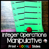Integer Operations Manipulative - print and digital