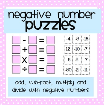 Negative Number Puzzles