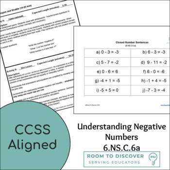 Negative Number Proofs (6.NS.C.6.a) Complete Lesson