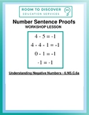 Negative Number Sentence Proofs (6.NS.C.6.a) - Worksheet Only