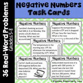 Negative Numbers Word Problem Task Cards