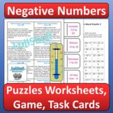 Negative Numbers Activities