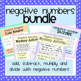 Negative Numbers Activity Bundle