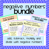 Negative Numbers Activity Bundle