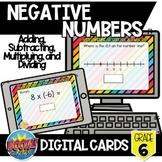 Negative Numbers Boom Card Bundle {Digital Cards}