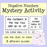 Negative Numbers Mystery Activity: Adding & Subtracting Negatives