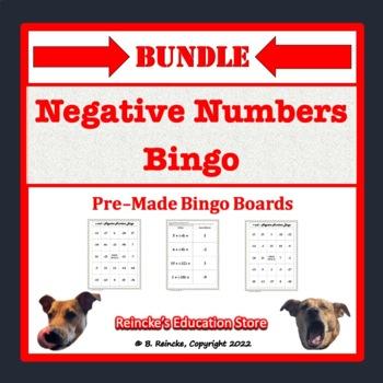Negative Numbers Pre-Made Bingo Bundle