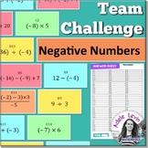 Negative Numbers (TEAM CHALLENGE task cards)
