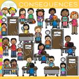 Negative School Behavior Consequences Clip Art