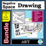 Drawing Negative Space Bundle Middle or High School Art Lessons