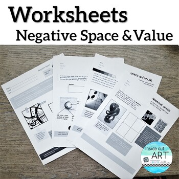 High School ART Negative Space and Shading Worksheets