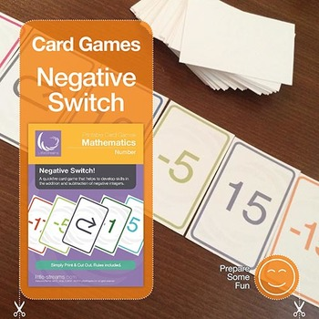 Negative Switch! | card game to practice negative & positive integer calculation