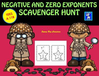 Negative and Zero Exponents Scavenger Hunt