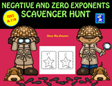 Negative and Zero Exponents Scavenger Hunt