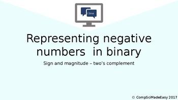 Negative binary