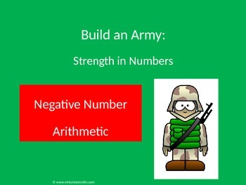 Negative (directed) Numbers Arithmetic Activity: Build an Army