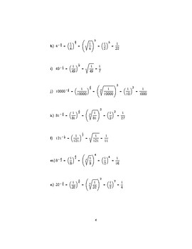 Negative fractional indices
