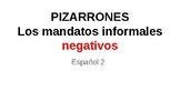 Negative informal/ tu commands  mandatos informales negativos
