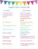 Negative vs. Positive Talk (recipe for success)
