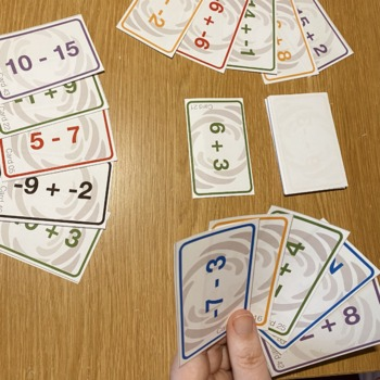 Negative Numbers Battle Card Game