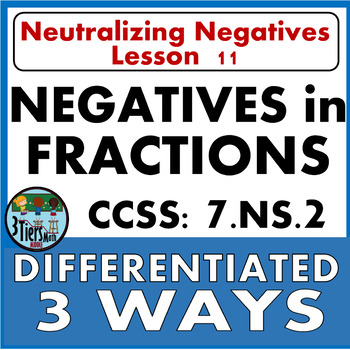 7.NS.2 Negatives in Fractions - Move those Negatives to the Numerator!