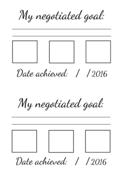 Negotiated goal setting booklets